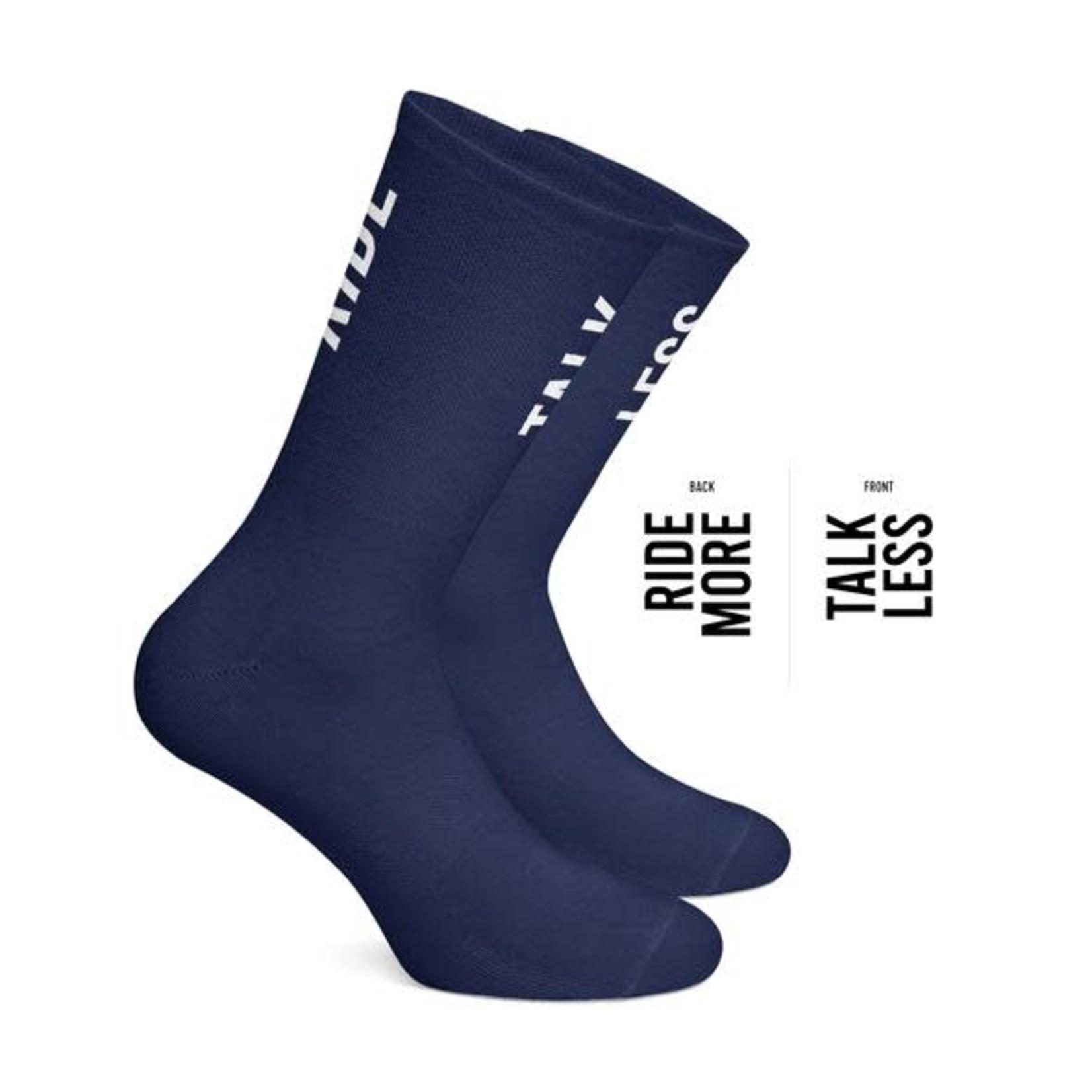 Socks-'Ride More Talk Less' navy