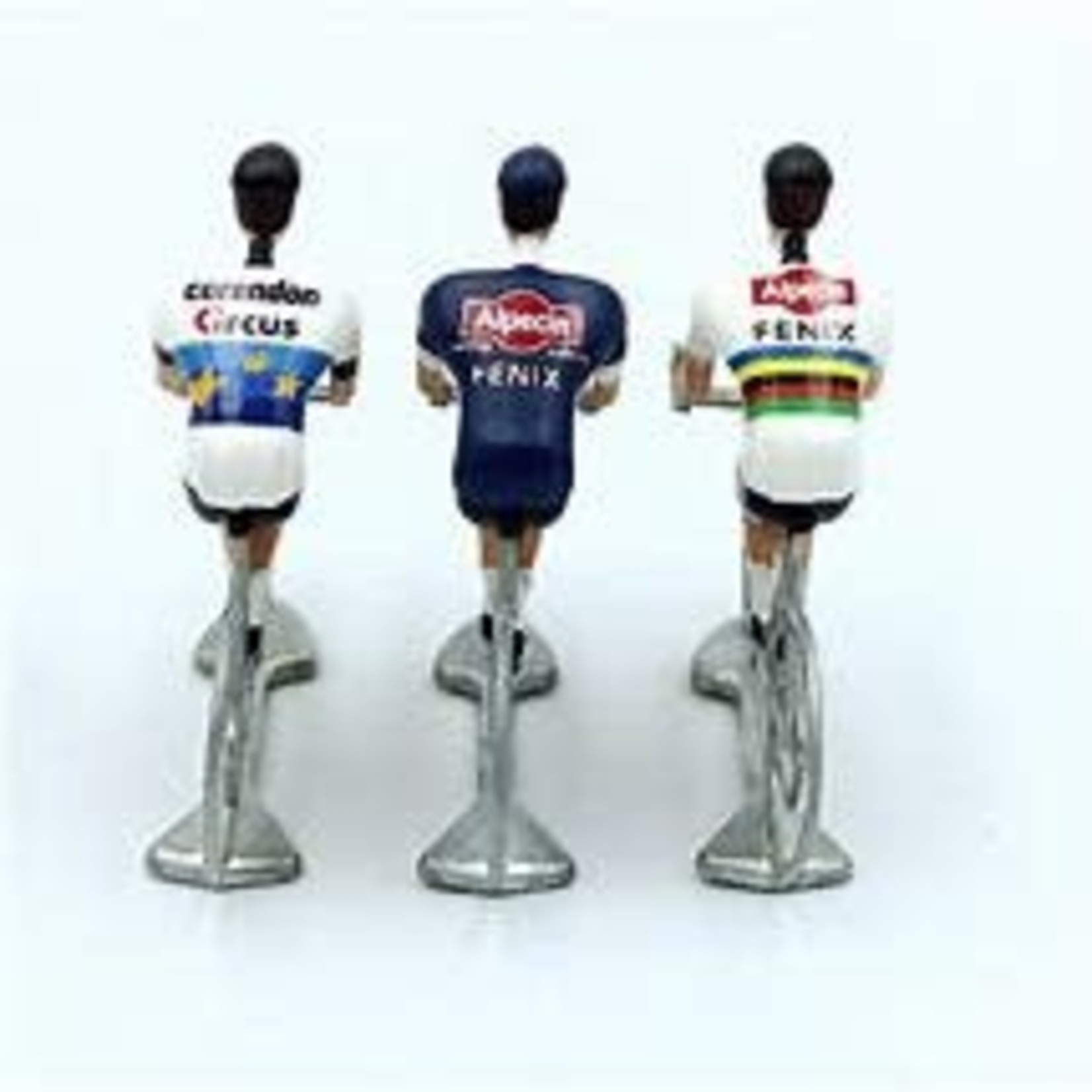 Miniature cyclist 'Cycling hero's Mathieu VDP' (3stuks)