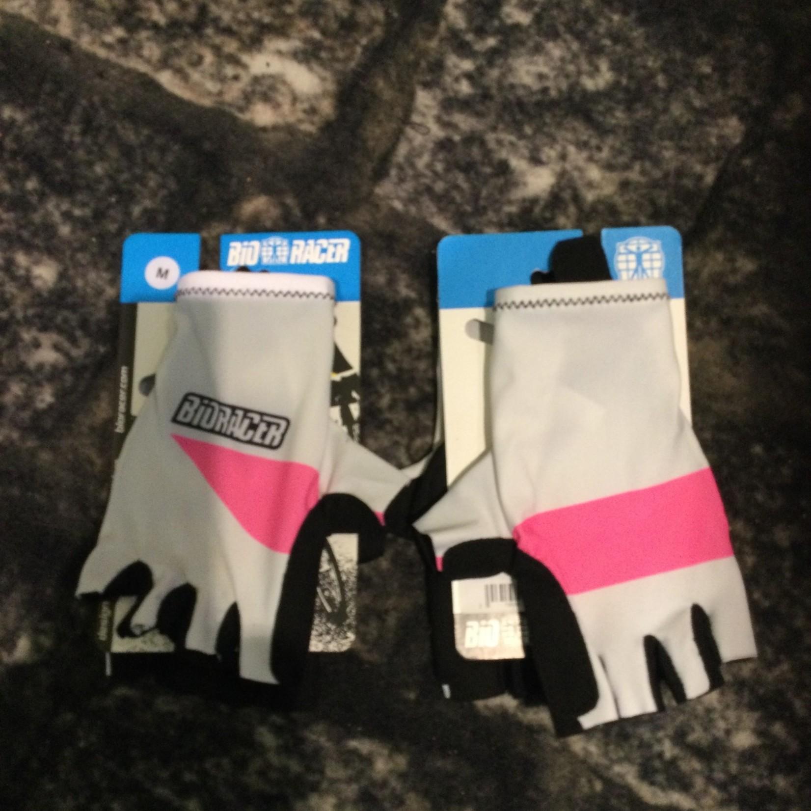 Gloves Bioracer white fluopink