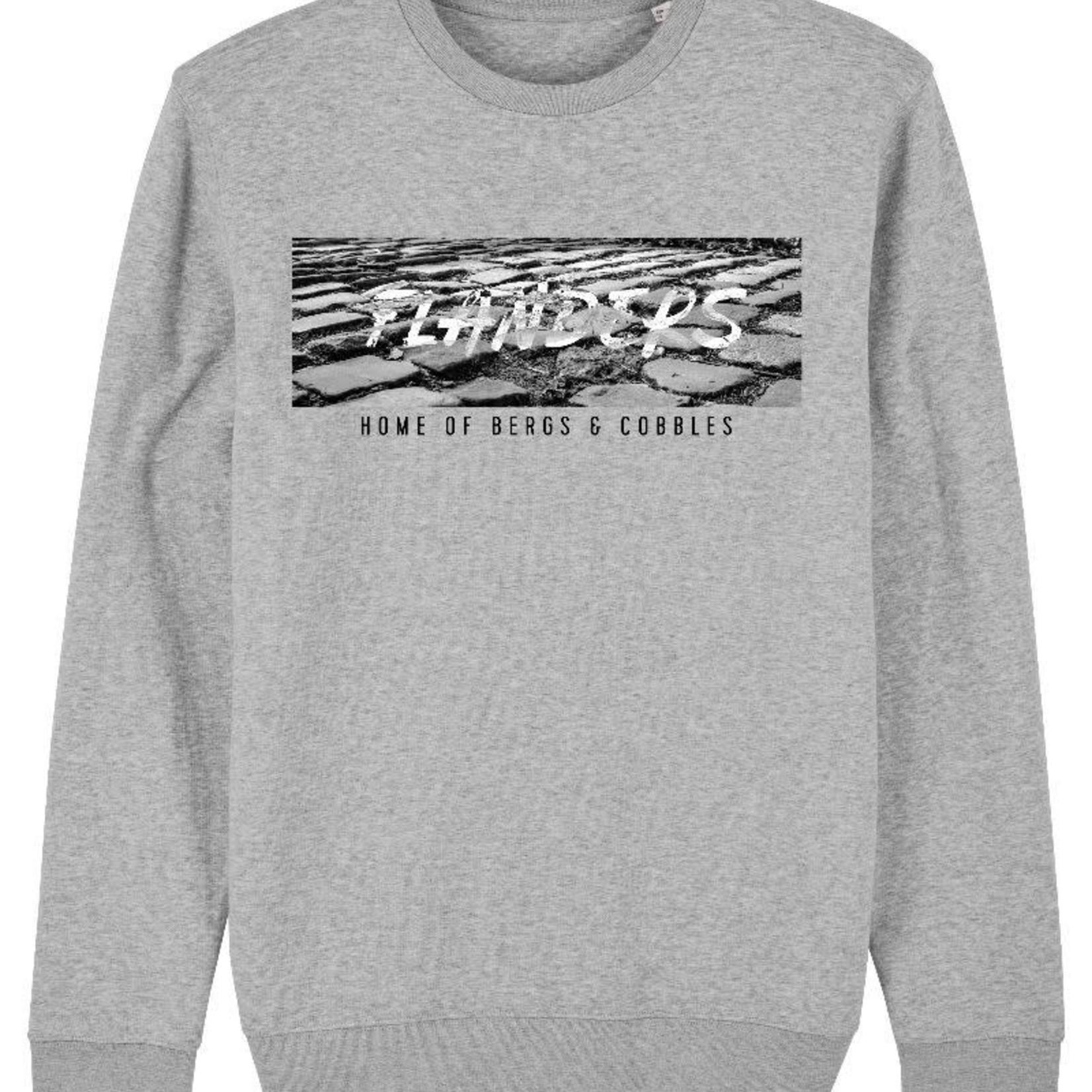 Sweater 'Flanders,home of...'grey