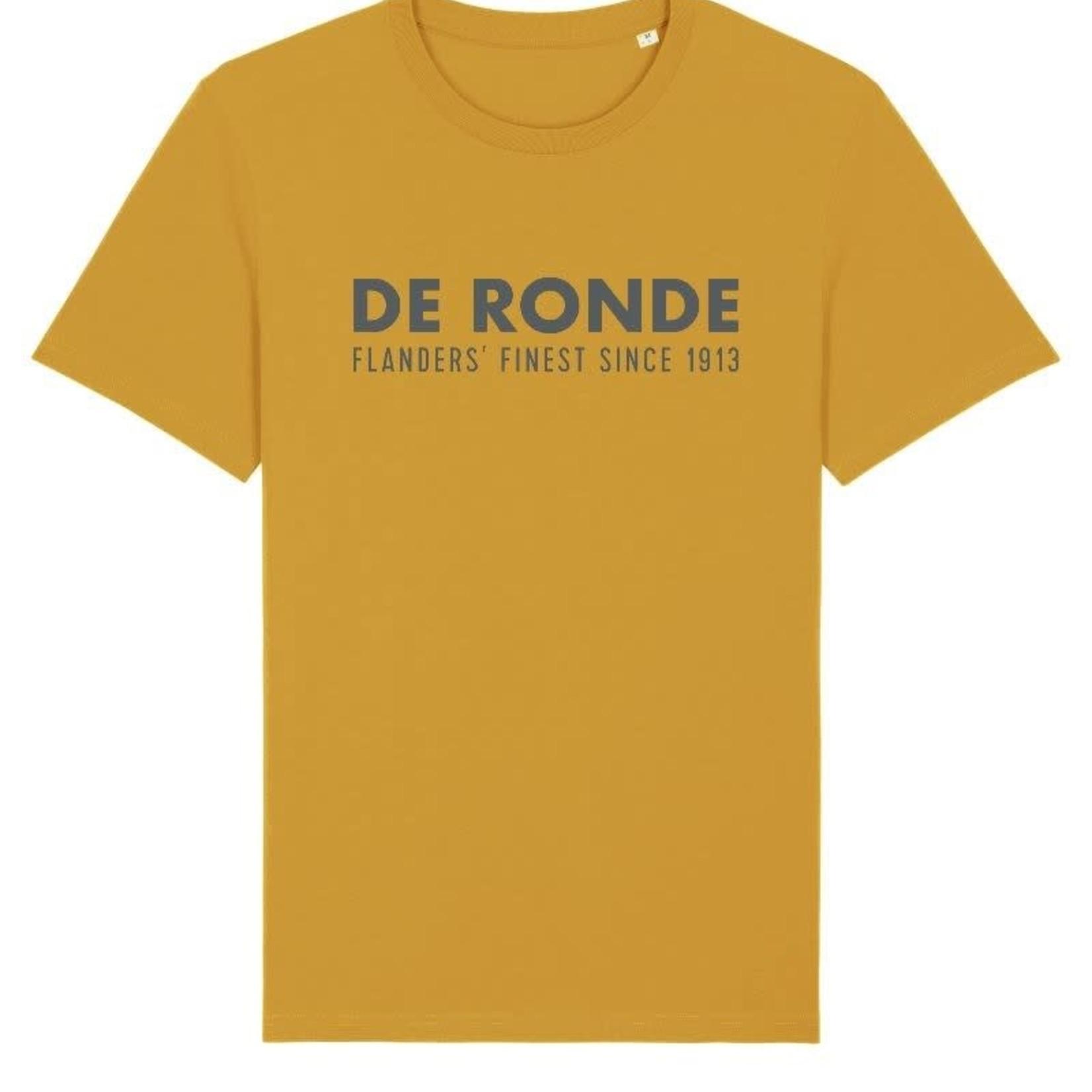 T-shirt 'De Ronde' mosterd