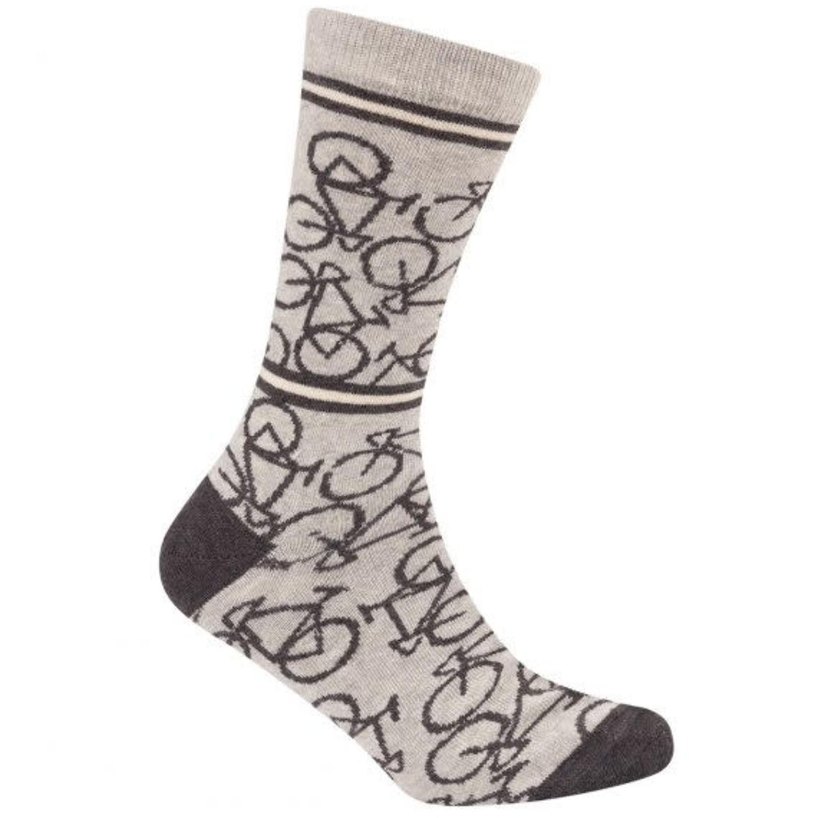 Sokken 'Le Patron' Bicycle socks lichtgrijs