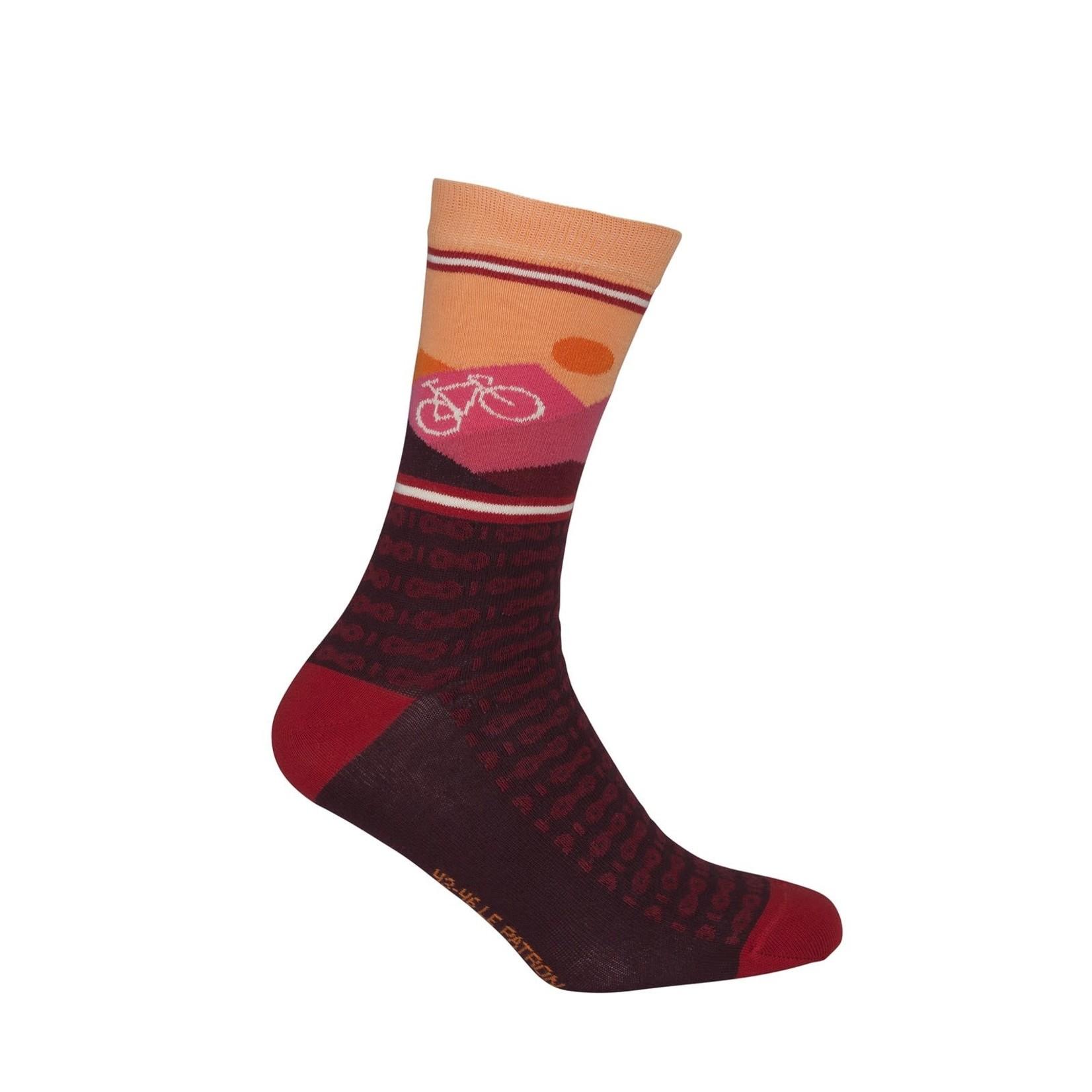 Sokken 'Le Patron' Mountain socks bordeaux