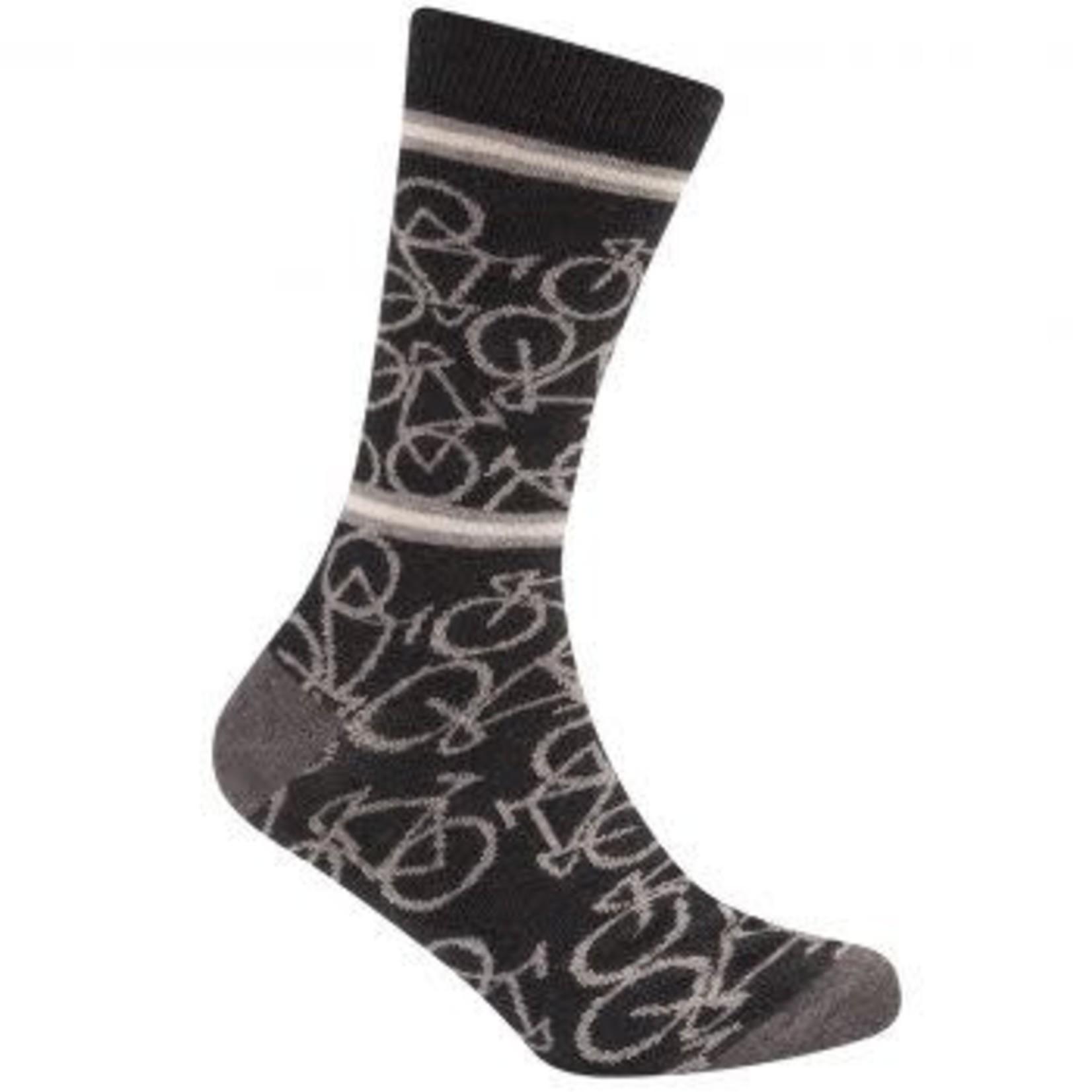 Sokken 'Le Patron' Bicycle socks donkergrijs