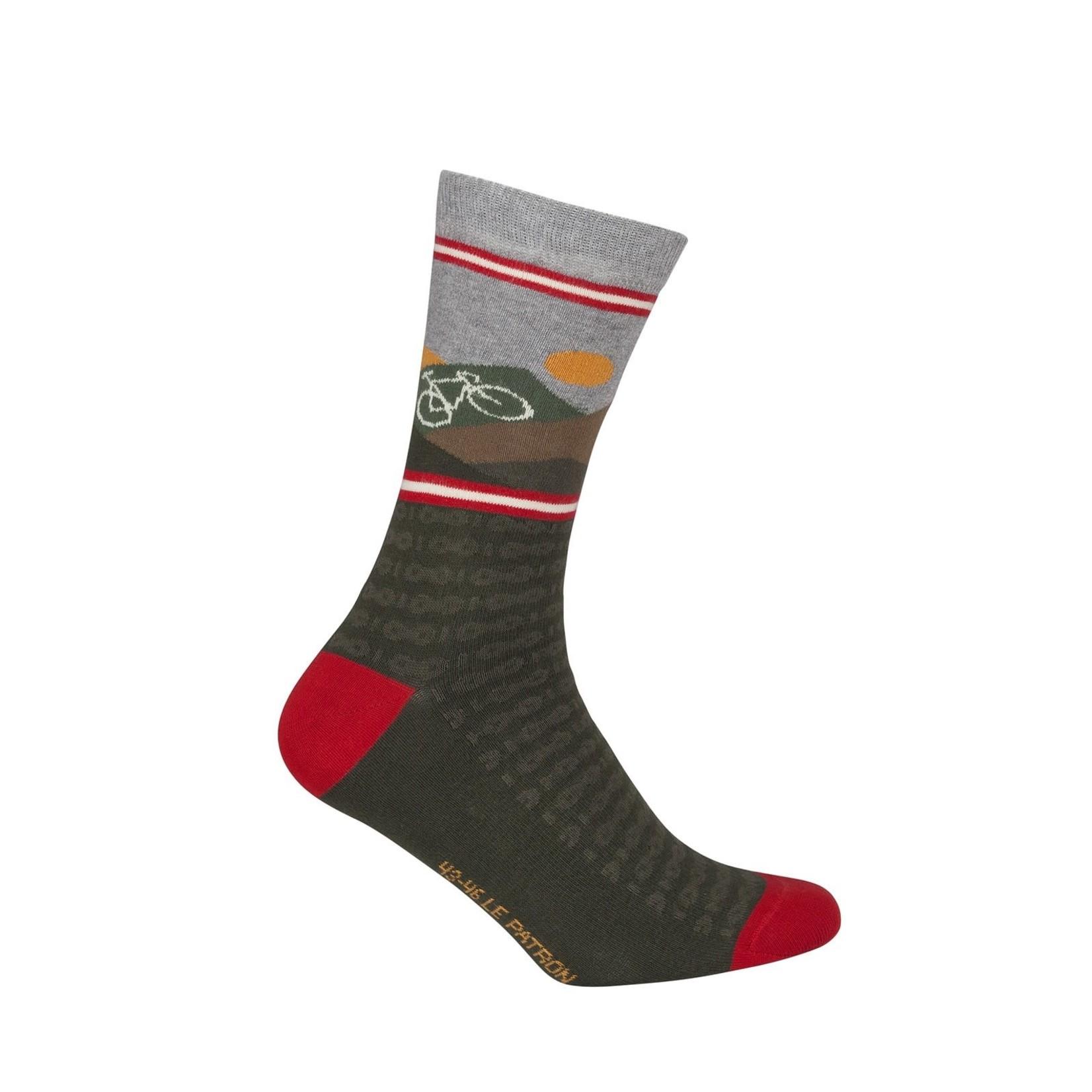Sokken 'Le Patron' Mountain socks groen