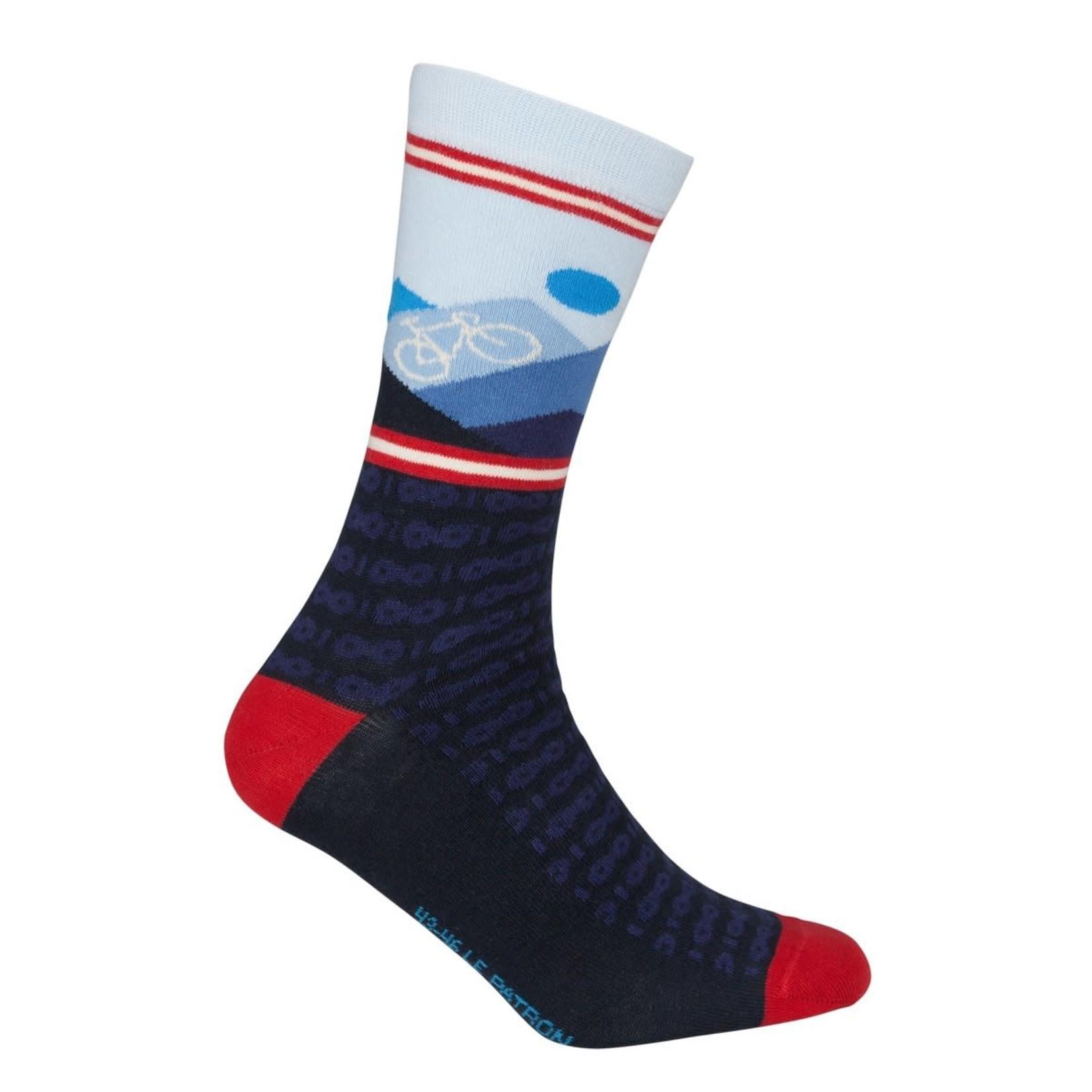 Sokken 'Le Patron' Mountain socks donkerblauw