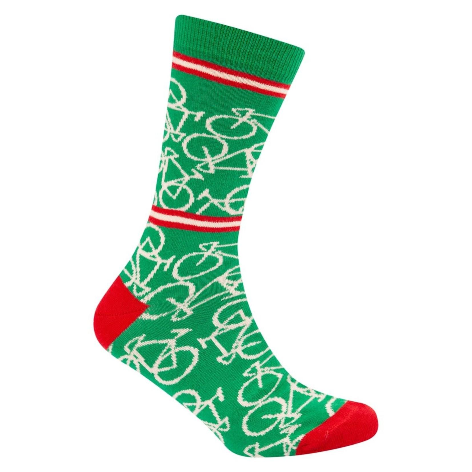 Sokken 'Le Patron' Bicycle socks Italian green