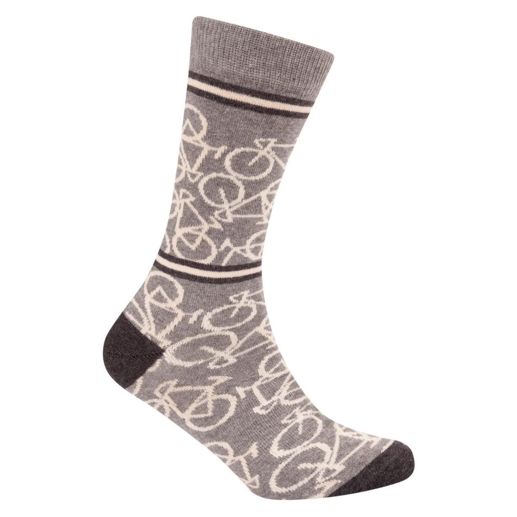 Sokken 'Le Patron' Bicycle socks mid grey