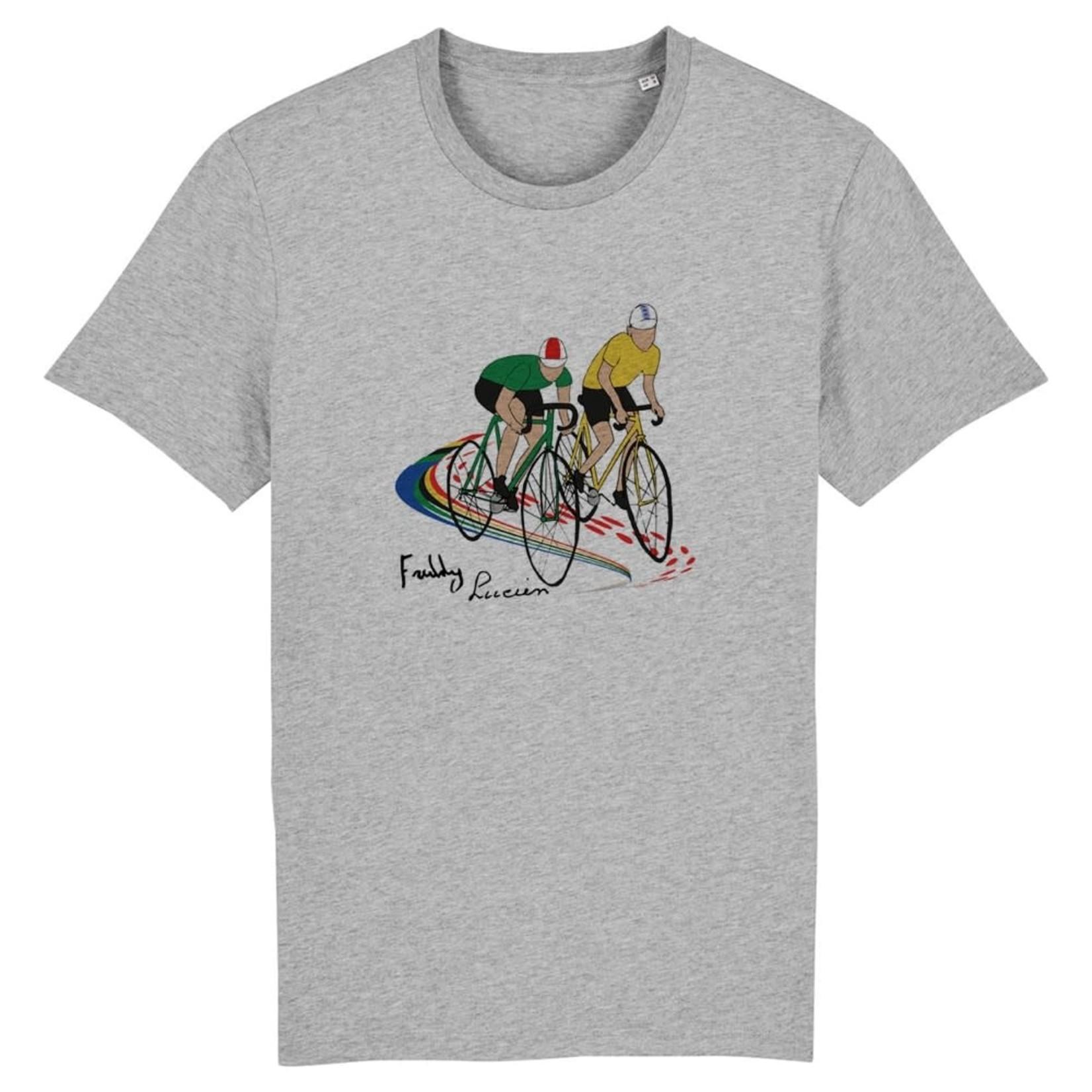 T-shirt 'Lucien en Freddy' grijs