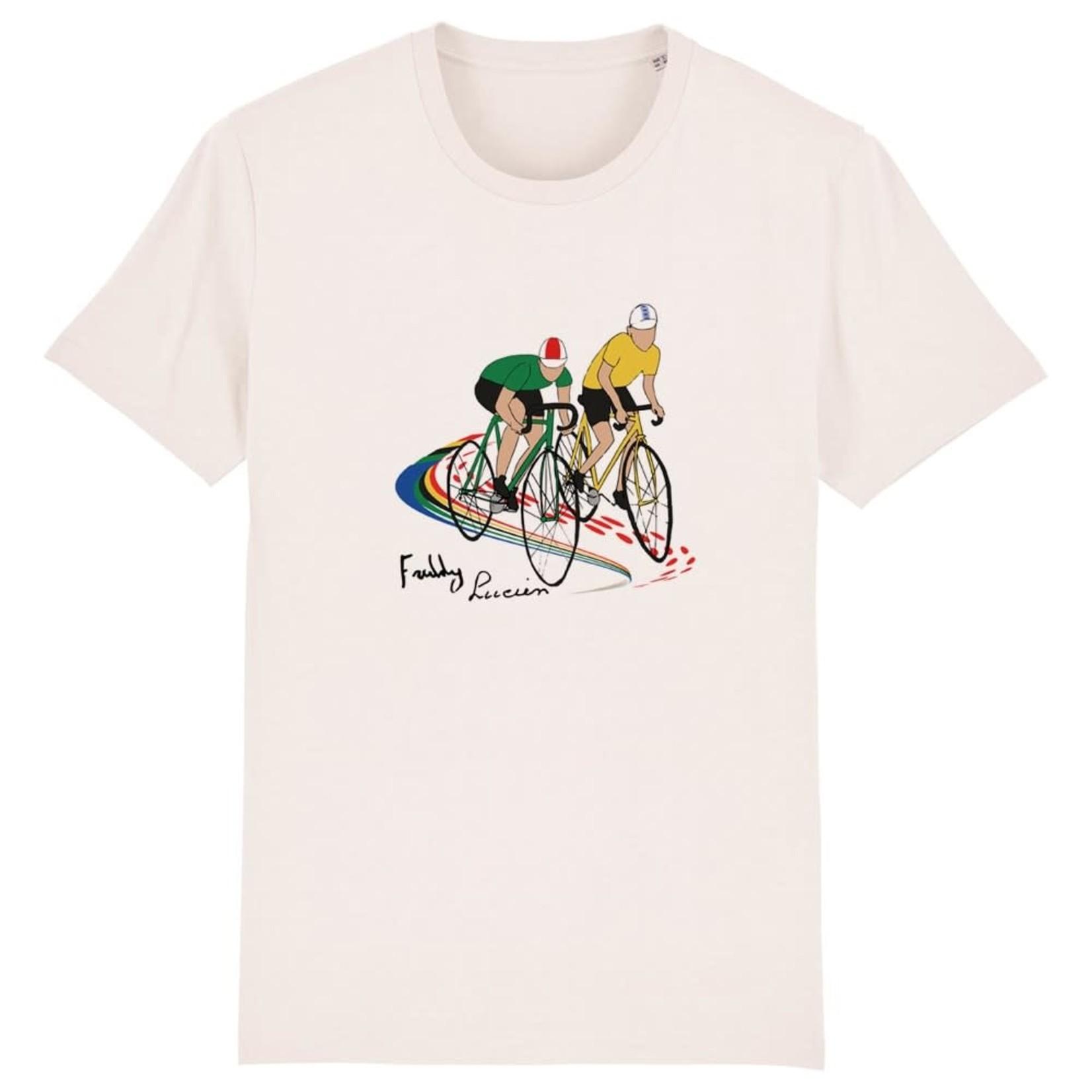 T-shirt 'Lucien en Freddy' beige