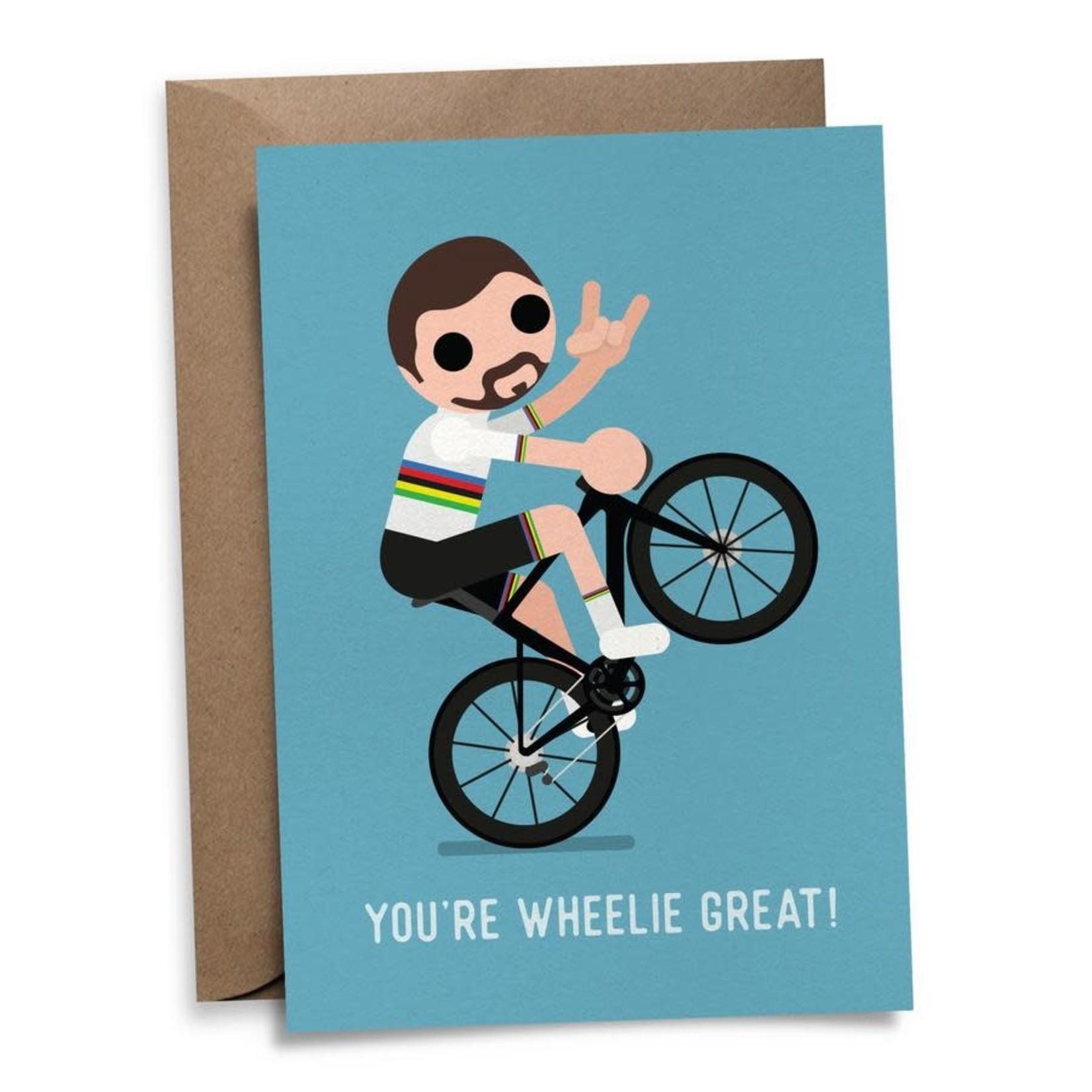 Postkaart 'You're wheelie great!'