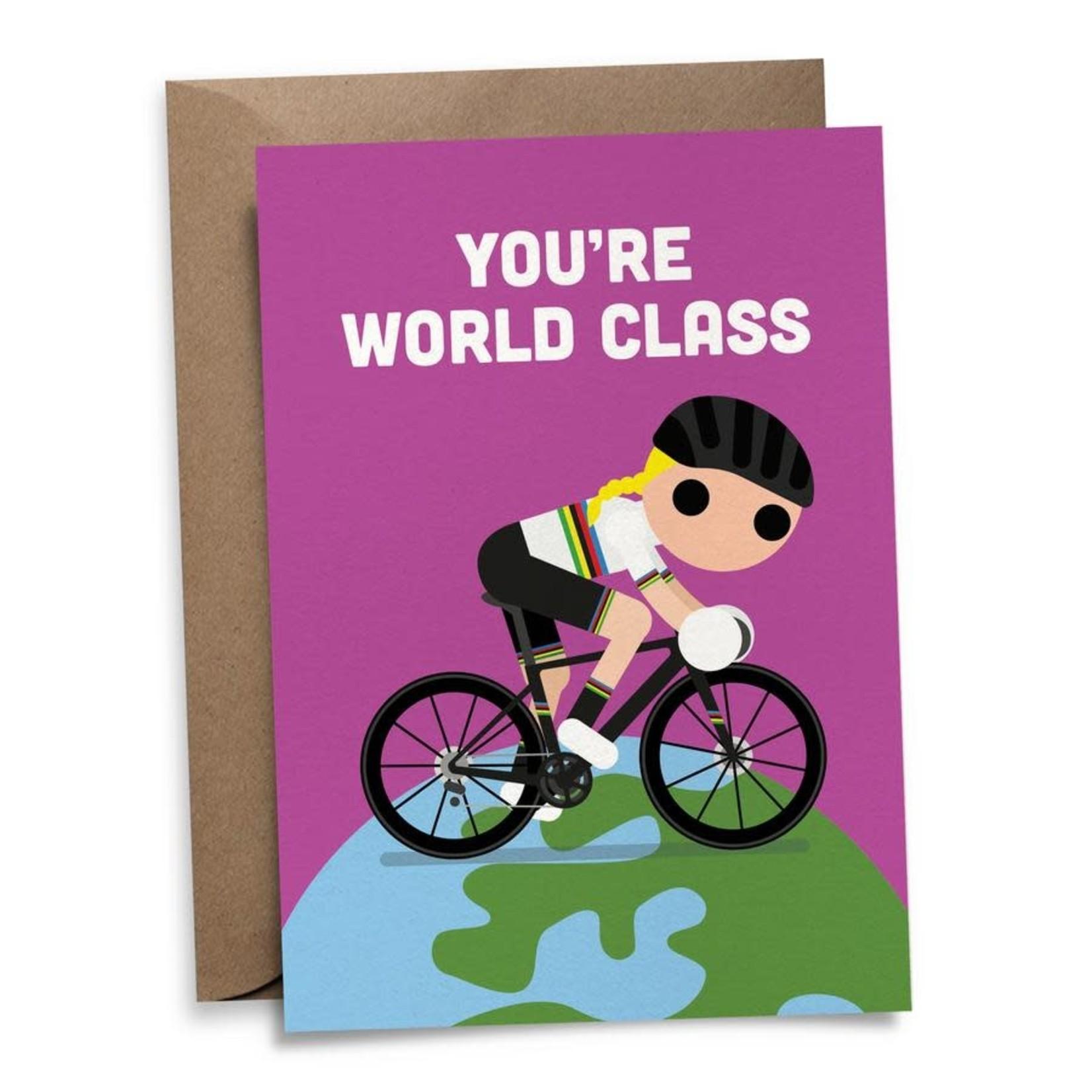 Postkaart 'You're world class'