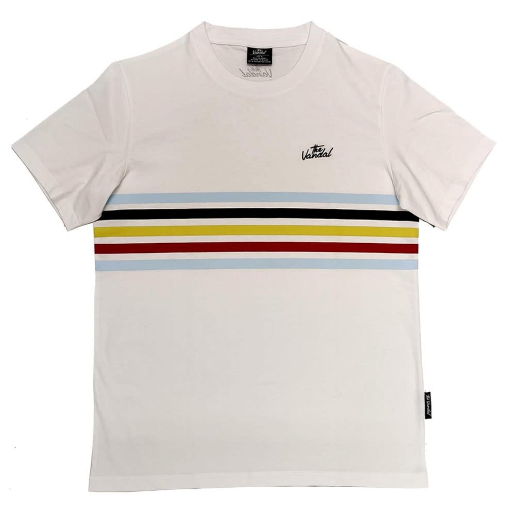 T-shirt 'Belgian Stripes' (wit)