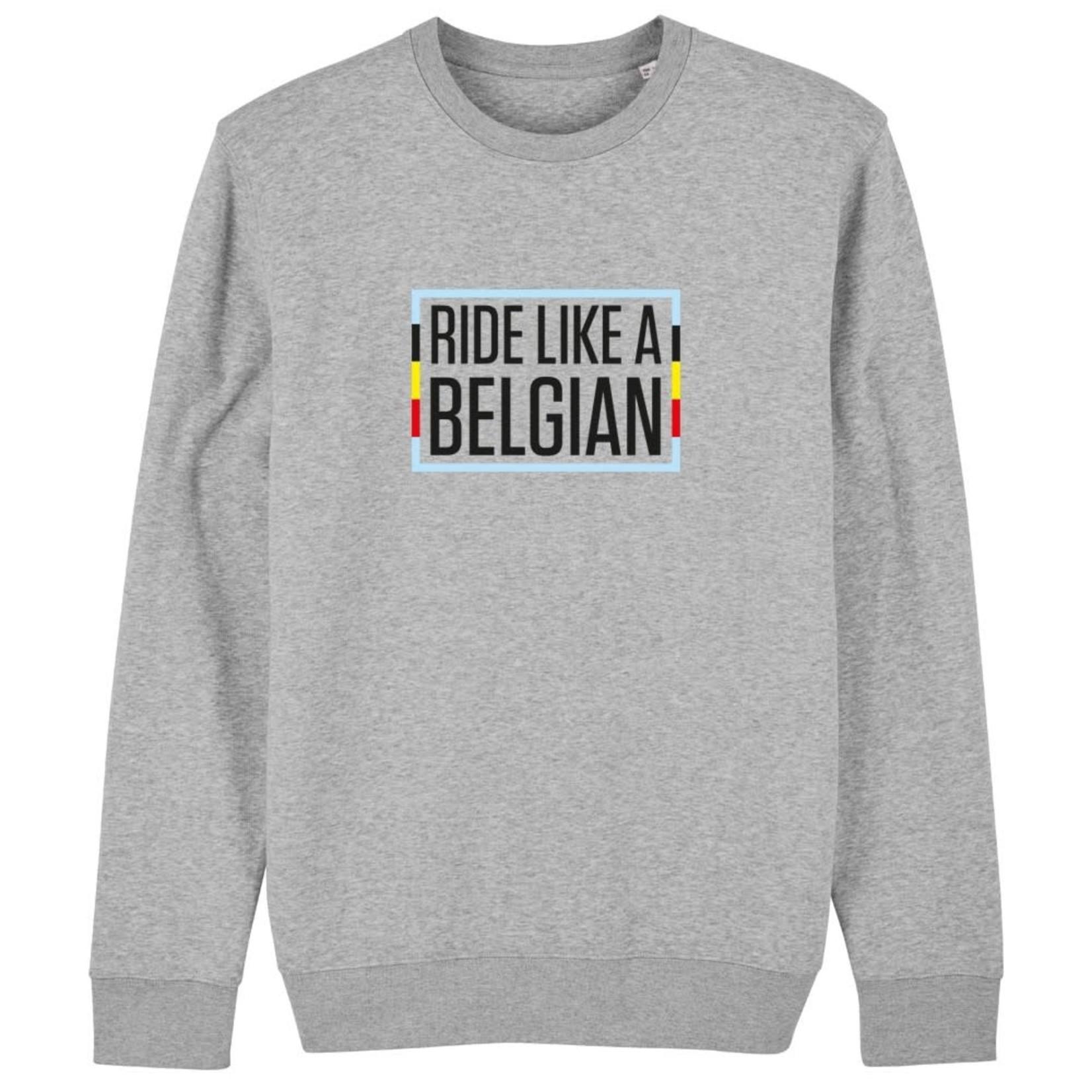 Sweater 'Ride like a Belgian'  (grijs)