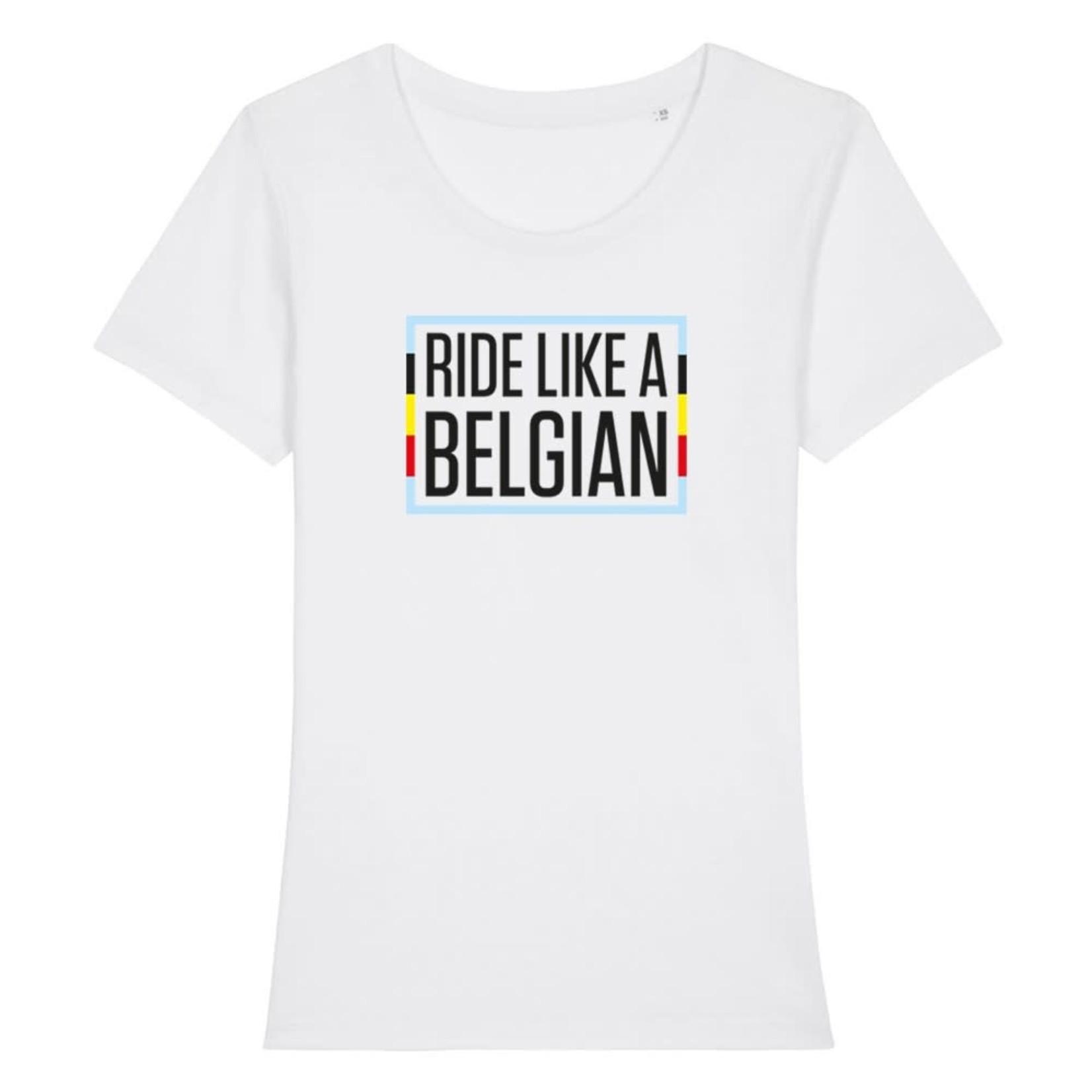 T-shirt dames 'Ride like a Belgian'