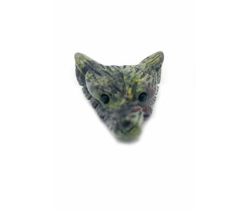 Jaspis Drakenbloed - Wolf Edelsteen Krachtdier
