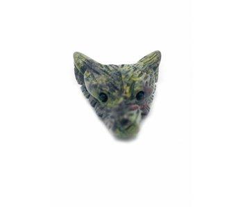 Wolf Edelsteen Krachtdier - Drakenbloed Jaspis
