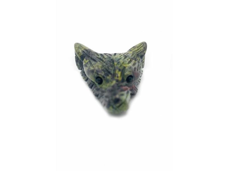 Wolf Edelsteen Krachtdier - Drakenbloed Steen