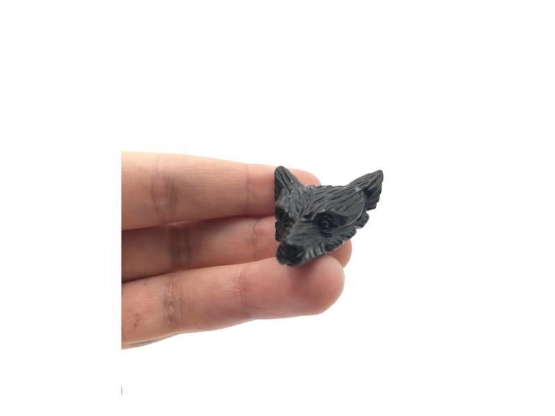 Obsidiaan Zwart - Wolf Edelsteen Krachtdier
