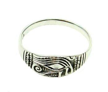Ring Oog van Horus Zilver