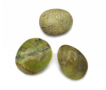 Palmsteen Groene Opaal Middel