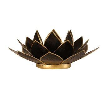 Waxinehouder Lotus - Zwart
