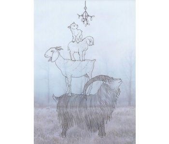 Solawende Yulekaarten - 8x Goats! (2018)