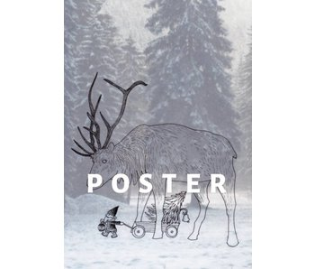 Poster Solawende - Reindeer and Tomte (2017)