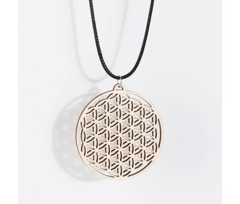Hanger Hout 'Flower of Life'