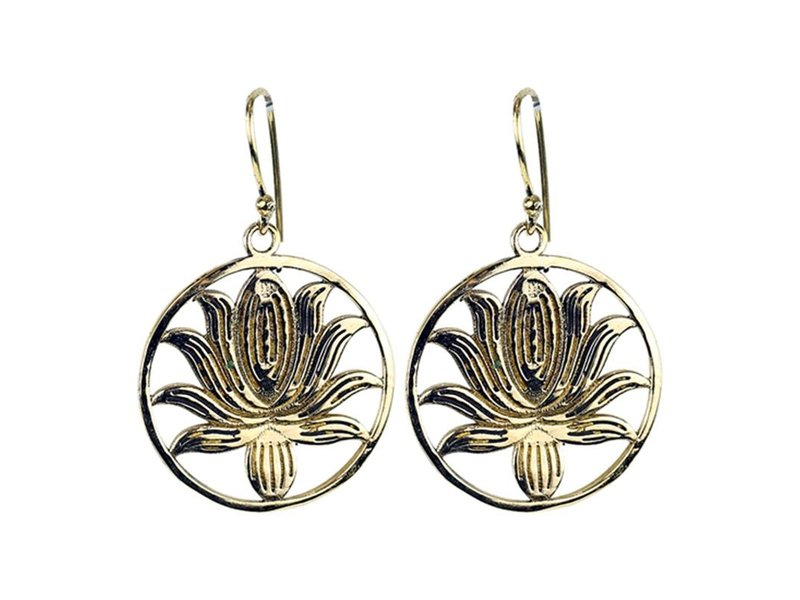 Oorbellen van Messing - Lotus
