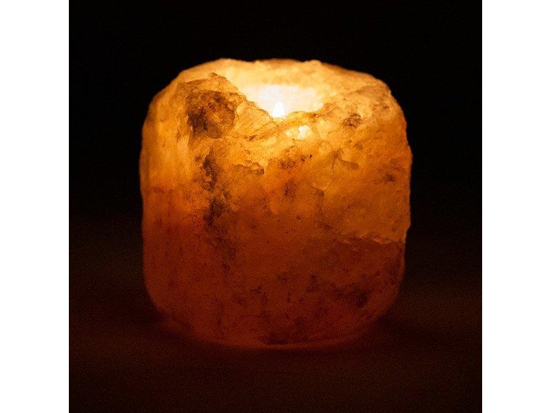 Waxinehouder Zoutkristal