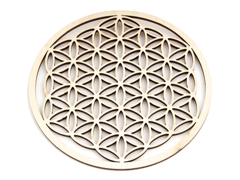 Flower of Life Hout 9 cm