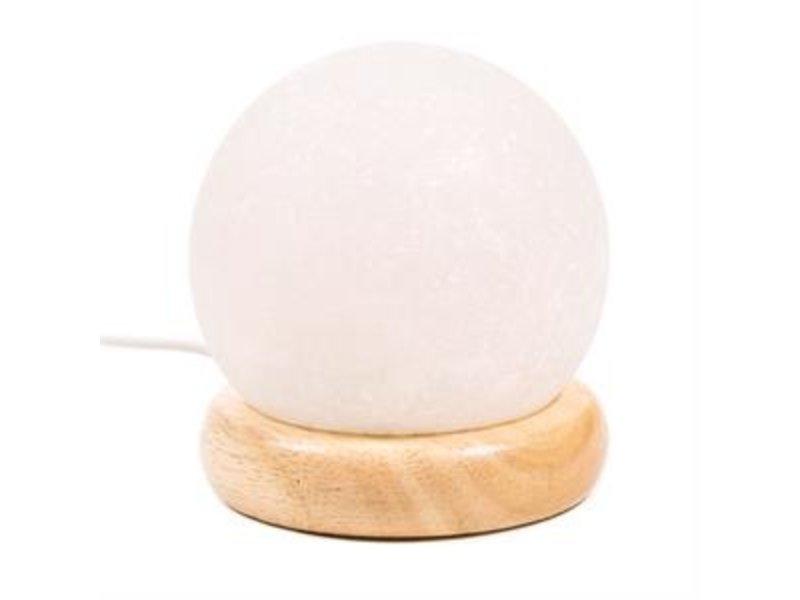 Zoutkristal Lampje Bol Wit USB