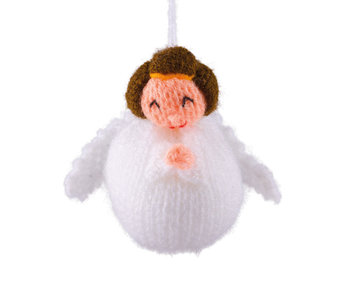 Kerstbal engel gebreid