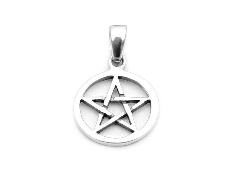 Hanger Pentagram Zilver Klein