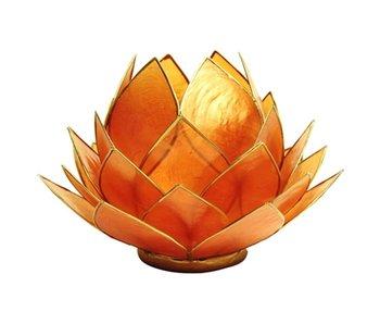 Waxinehouder Lotus - Oranje Groot