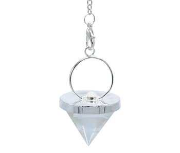 Bergkristal Pendel met Maansteen