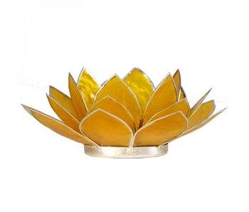 Waxinehouder Lotus - Geel