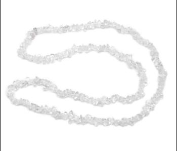 Bergkristal Ketting Splitsteentjes 80 cm