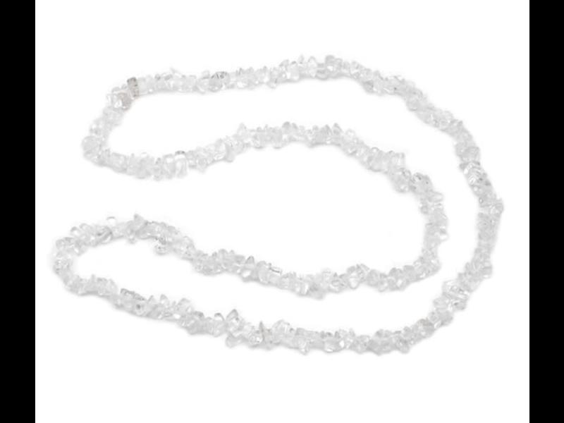Ketting Bergkristal Splitsteentjes - 80 cm