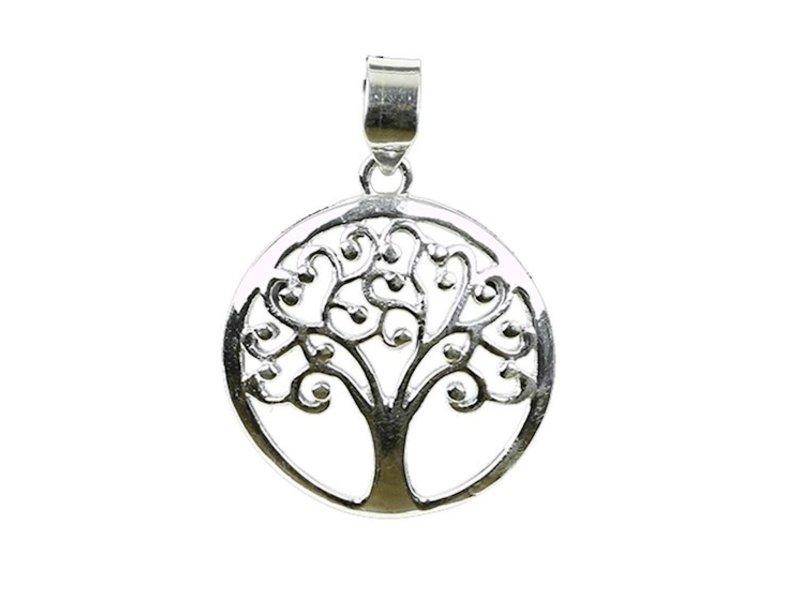 Hanger Levensboom Zilver Krullen
