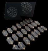 Runen Zwart Hout Gegraveerd