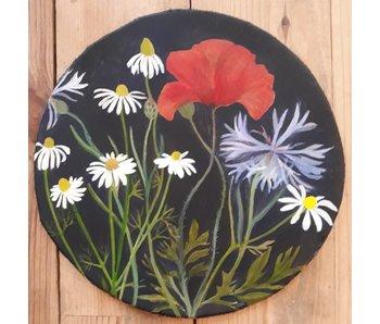 Flowerdrum Kamille, klaproos en korenbloem