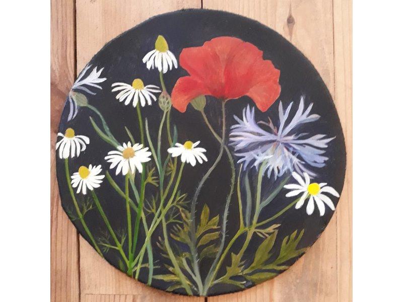 Annebeth Elfrink Flowerdrum Kamille, klaproos en korenbloem