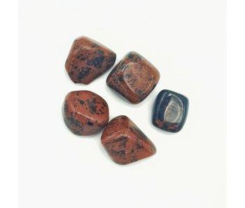 Knuffelsteen Mahonie Obsidiaan