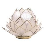 Waxinehouder Lotus - Naturel Groot