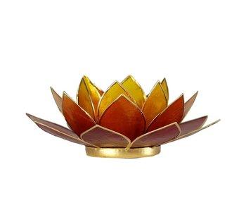 Waxinehouder Lotus - Rood Oranje Geel Drie Kleuren