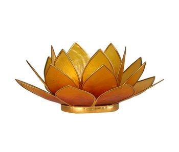 Waxinehouder Lotus - Oranje Geel Twee Kleuren