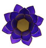 Waxinehouder Lotus - Indigo