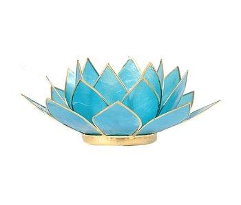 Waxinehouder Lotus - Blauw